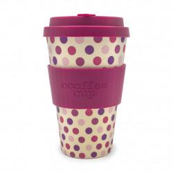 Ecoffee cup Pink Polka - koffiebeker