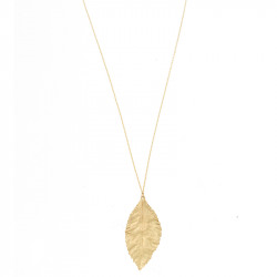 Halsketting Timi Big Leaf gold