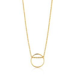 Ania Haie Twist chain circle necklace