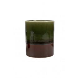 Geurkaars in pot keramiek roest-groen / Zusss