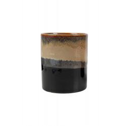 Geurkaars in pot keramiek Zwart-zand / Zusss