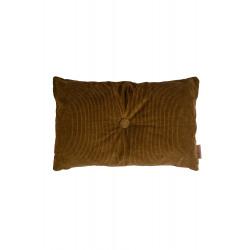 Kussen fluweel geribt 60x40 cm muskaat / Zusss