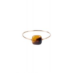 Ring Zusss met vierkante steen