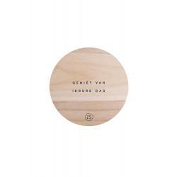 Wandbordje in hout Geniet / Zusss