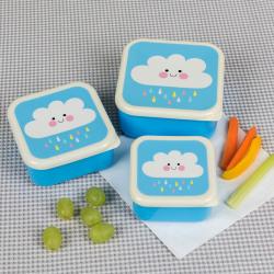 Set/3 snackdoosje Happy rain cloud