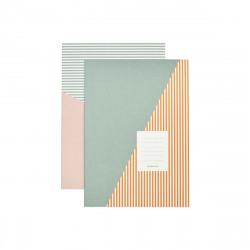 Set van 2 note books Stripes/combo / House Doctor