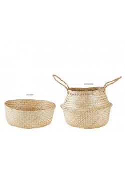 Basket Seagrass Natural D 30,0cm H 41,0cm Pcs. VC17Np034