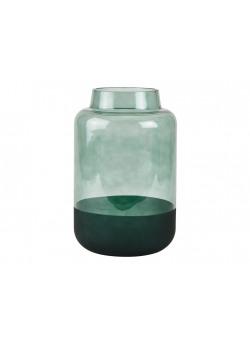 Vase d17*h26cm Green/ Glass -