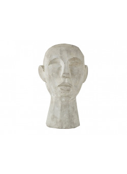 Figure Head 19,5*18,5*h30cm Grey/ Cement -