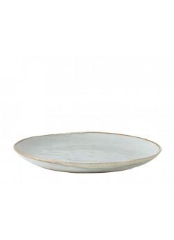 Plate palet stoneware blue