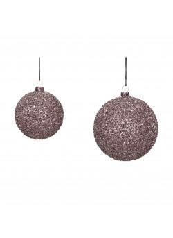 Christmas ball, plastic, purple