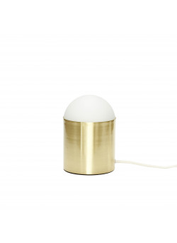 Table lamp, glass/brass