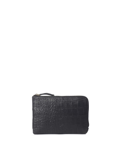 Lola black/croco soft grain leather
