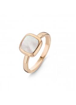 Ring rosé goud met parelmoer