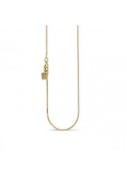 Halsketting in 18kt plaqué goud, venetiaan ketting, 45 cm