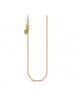 Halsketting in 18kt plaqué goud, gourmet ketting, 45 cm