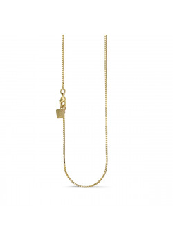18ct gold plated necklace, venetian chain, 50 cm