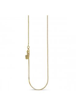 Halsketting in 18kt plaqué goud, venetiaan ketting, 60 cm