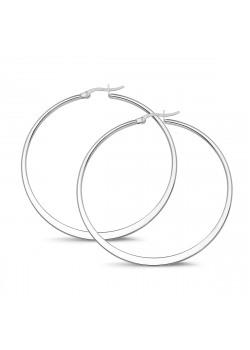stainless steel hoop earrings, 57 mm