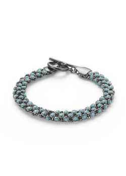 High fashion armband, turquoise