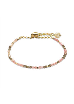 High fashion bracelet, small light pink and grey stones