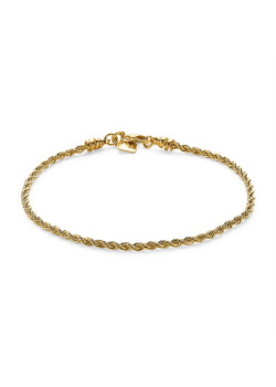 18ct gold plated bracelet, rope chain