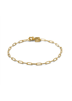 Bracelet en plaqué or 18ct, maillon ovale, 3 mm