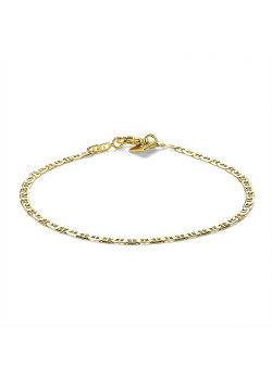 Bracelet en plaqué or 18ct, maillon marine
