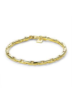 Armband in 18kt plaqué goud, ronde schakelketting, 4 mm