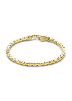 Bracelet en plaqué or 18ct, maillon 4 mm