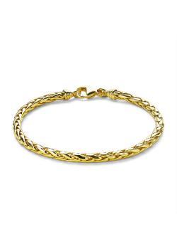 Bracelet en plaqué or 18ct, maillon palmier