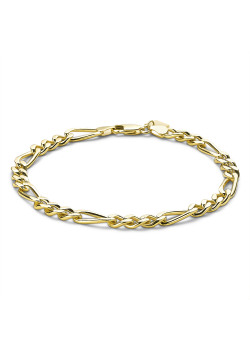 18ct gold plated bracelet, figaro chain