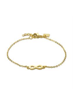Armband in goudkleurig edelstaal, infinity