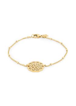 Armband in goudkleurig edelstaal, open motief
