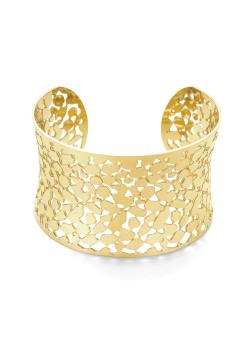 Armband in goudkleurig edelstaal, bangle 3,7 cm open