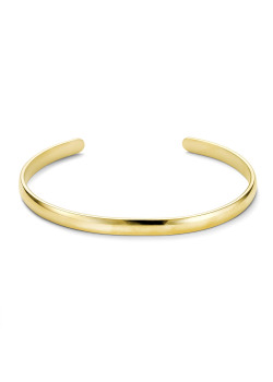 Bracelet en acier poli couleur or, rigide, 5 mm