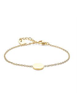 Armband in goudkleurig edelstaal, rondje