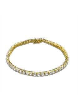 Gold-coloured silver bracelet, tennis bracelet