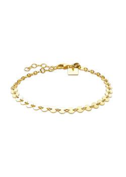Armband in 18kt plaqué goud, bracelet a ronds