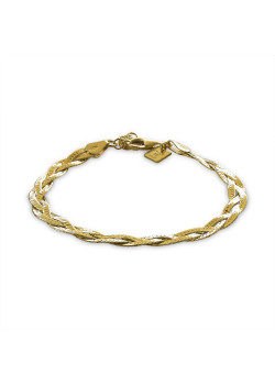 18ct gold plated silver bracelet, braid