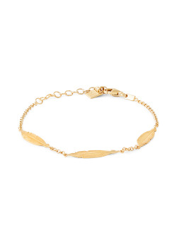 Armband in verguld zilver, 3 plumes