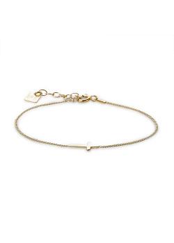 Armband in verguld zilver, kruisje