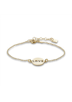 Armband in verguld zilver, ronde, love