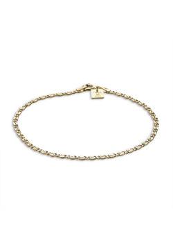 Armband in 18kt plaqué goud, ovale schakel, 2 mm