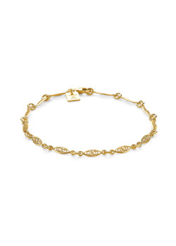 18ct gold plated silver bracelet, link chain