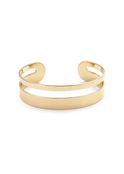 High fashion open rigide armband, goudkleur