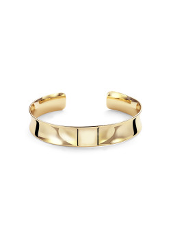 High fashion rigide armband, goudkleur