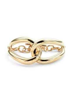 High fashion armband, 2 grote druppels, goudkleur