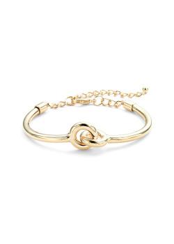 High fashion rigide armband, goudkleur