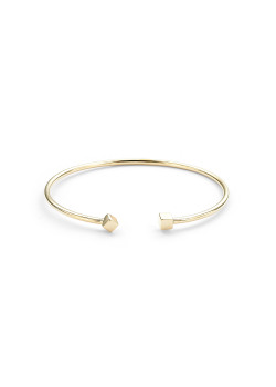 High fashion rigide armband, vierkant motief, goudkleur